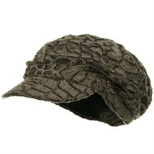 Animal Print Fur Newsboy Hat – Leopard